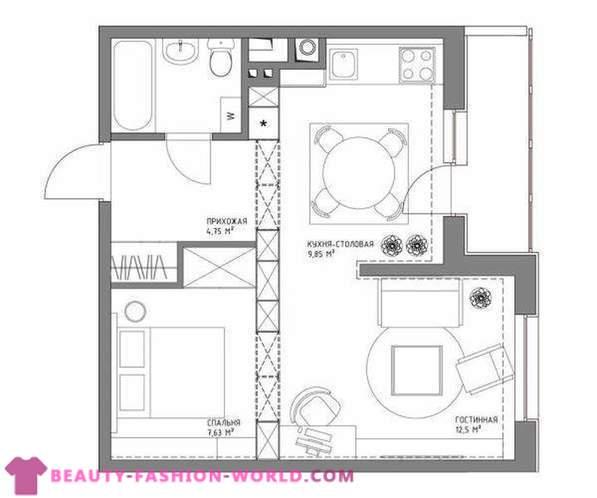 Reka Bentuk Dalaman Kawasan Apartmen 43 Sq M